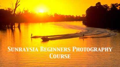 Sunset photo Murray River Mildura for Excitations Photo Adventures Beginners photography course.
